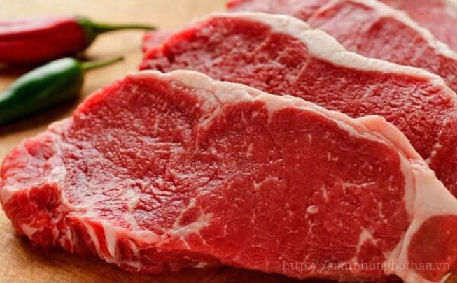 Thịt bò thực phẩm điều trị xuất tinh sớm phổ biến nhất